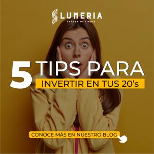 5 tips para invertir en tus 20's